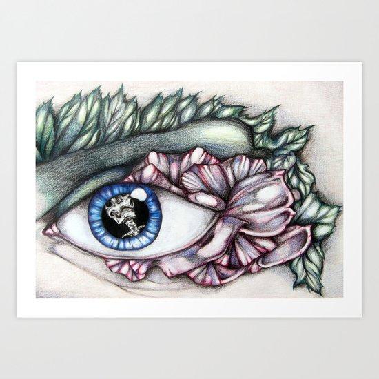 Petal Lashes Art Print