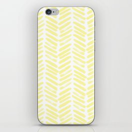 Handpainted Summer Sun Yellow Chevron pattern - Mix & Match with Simplicity of Life iPhone Skin