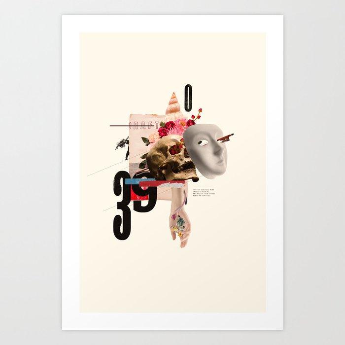 Mask. Strip. Art Print