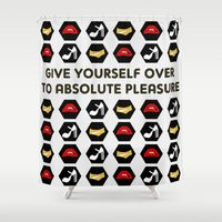 rocky horror Shower Curtains featuring The Rocky Horror Picture Show by Criquet