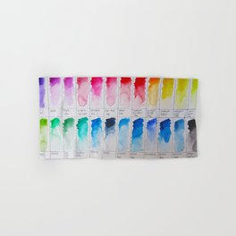 Watercolor Swatches Hand & Bath Towel