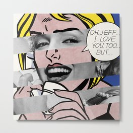 "Roy Lichtenstein's ""Oh, Jeff I Love You, Too But..."" & Marylin Monroe Metal Print"