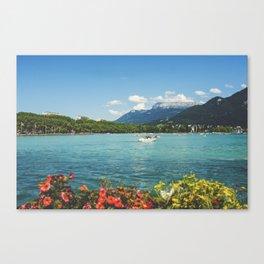 Annecy lake Canvas Print