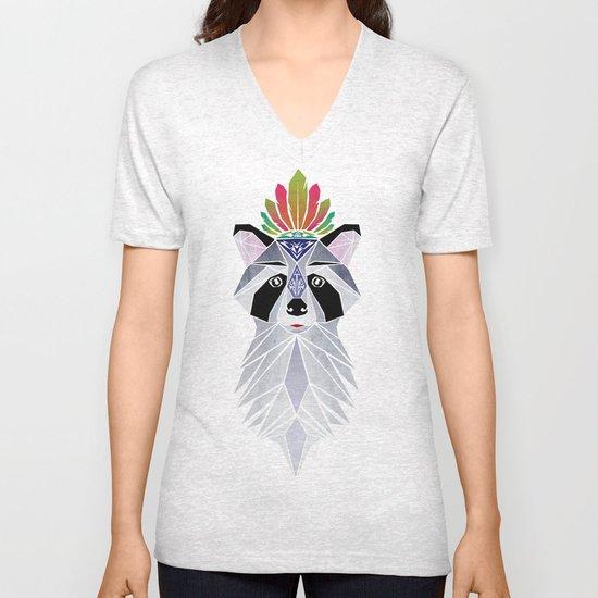 raccoon spirit Unisex V-Neck