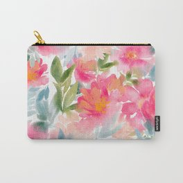 Peony Sunrise Carry-All Pouch