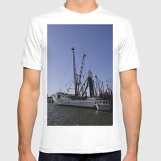 fishing boat and his sidekick Mens Fitted Tee White MEDIUM