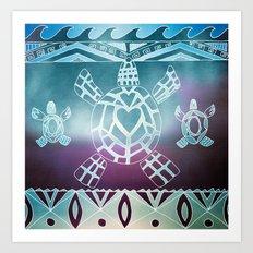 Tribal Sea Turtle Art Print
