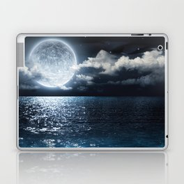 Full Moon over Ocean Laptop & iPad Skin
