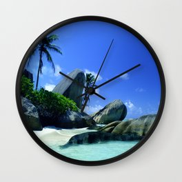 Seychelles Islands: Tropical Heaven Wall Clock