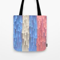 fringe Tote Bags featuring Fringe (Blue) by Jacqueline Maldonado