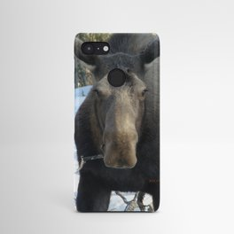 Moose Munching Poplar Lunch Android Case