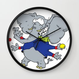 Multi-armed Elephants Never Forget How To Juggle Wall Clock