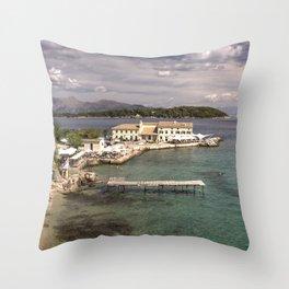 Corfu Seascape Throw Pillow