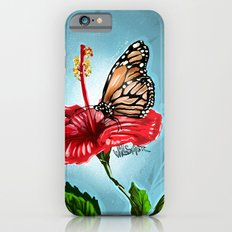 Butterfly on flower 2 Slim Case iPhone 6s