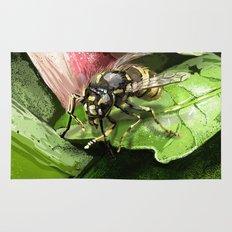 Wasp on flower16 Rug