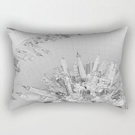 Future City Light Rectangular Pillow