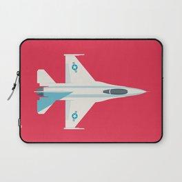 F-16 Falcon Fighter Jet Aircraft - Crimson Laptop Sleeve