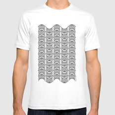 Brooklyn Williamsburgh Savings Bank Archidoodle by the Downtown Doodler Mens Fitted Tee MEDIUM White