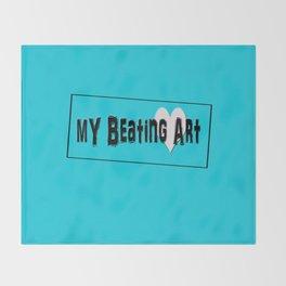 My Beating Art Throw Blanket