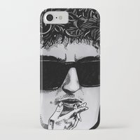 bob dylan iPhone & iPod Cases featuring Bob Dylan by Drawn by Nina