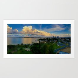 Panorama of The Gold Coast Art Print