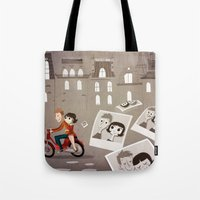 amelie Tote Bags featuring Amelie by The Fan Wars