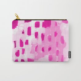 Zimta - pink abstract painting dots mark making canvas art decor Carry-All Pouch