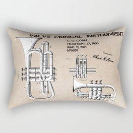 Valve musical instrument patent art Rectangular Pillow
