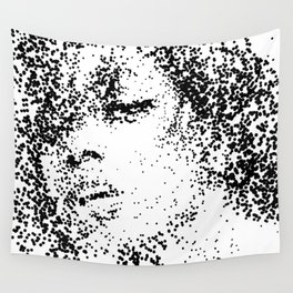 Stippled Woman Wall Tapestry