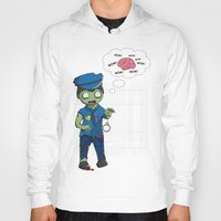 police Hoodies featuring Zombie Police by Jelo