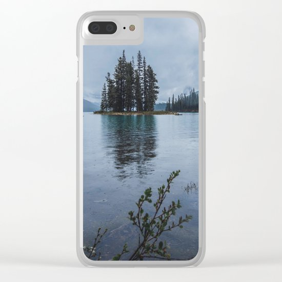 Fairy Tale Landscape Maligne Lake Alberta Canada Clear iPhone Case
