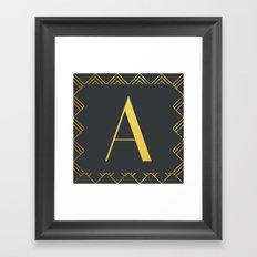 Art Deco Monogram - A Framed Art Print