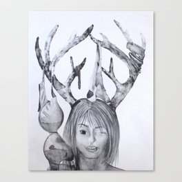 Horned Woman Canvas Print