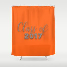 Class of 2017 - Orange and Grey Shower Curtain