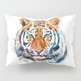 Tiger Head watercolor Pillow Sham