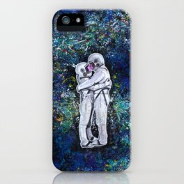 Astronauts in space iPhone Case