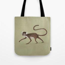 Squirrel Monkey Walking Tote Bag