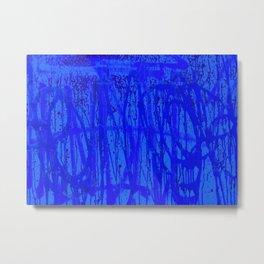 Sweet Street Graffiti - Blue Painting Metal Print