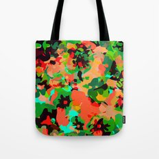 ALL FOR FLOWERS- GREEN Tote Bag