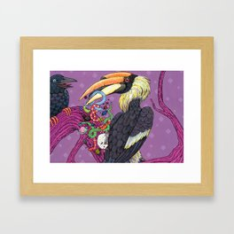 """""""Where Shall We Go, Big Black Crow?"""" Page 8 - bugs and snakes! Framed Art Print"""