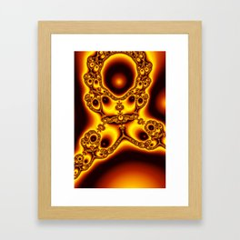 """Burnt Umber"" Fractal Art Print Framed Art Print"