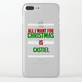 All I Want For Christmas (Castiel) Clear iPhone Case