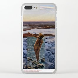 Peace Love & Skipping Stones Vintage Hippie Collage Clear iPhone Case