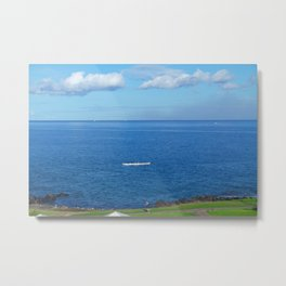 Running with the Outrigger  Metal Print