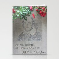 shakespeare Stationery Cards featuring shakespeare by Danica Nicole
