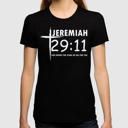 Christian Jeremiah 29:11 Bible Verse design T-shirt