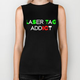 Funny Laser Tag Party T-Shirt Mode On Laser tag addict Biker Tank
