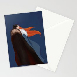 Facing the Night Together Stationery Cards