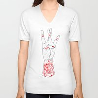 west coast V-neck T-shirts featuring West Coast by scoobtoobins