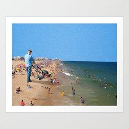 Beach Mower Art Print